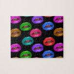 Labios coloridos intrépidos del lápiz labial de Po Puzzles Con Fotos