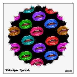 Labios coloridos intrépidos del lápiz labial de vinilo decorativo