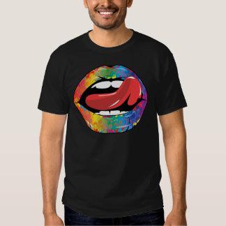 Labios de Fleur De Rainbow Licking Polera