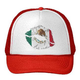 Labios de la bandera mexicana gorro