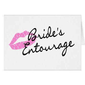 Labios de la comitiva de las novias tarjeta de felicitación