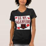 Labios de la tarjeta del día de San Valentín Playeras
