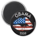 Labios de Obama nosotros imán 89418 del círculo de