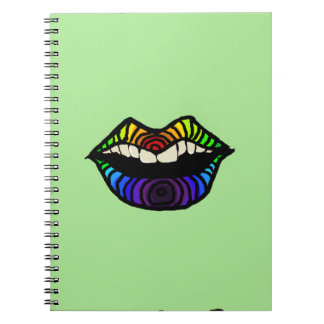 Labios del arco iris libreta espiral
