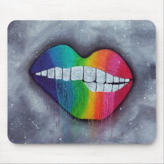 Labios del arco iris mouse pads