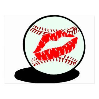Labios del béisbol tarjetas postales
