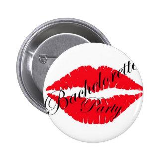 Labios del fiesta de Bachelorette rojos Pins