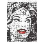 Labios del rojo de la Mujer Maravilla Postal