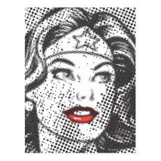 Labios del rojo de la Mujer Maravilla Postales