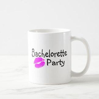 Labios del rosa del fiesta de Bachelorette Taza Clásica