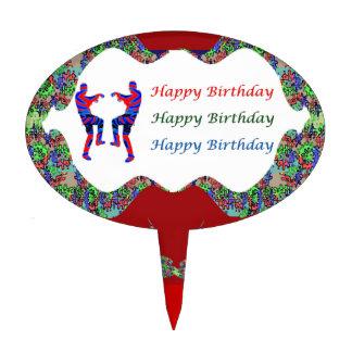 Labios del texto n del FELIZ cumpleaños de Decoraciones De Tartas