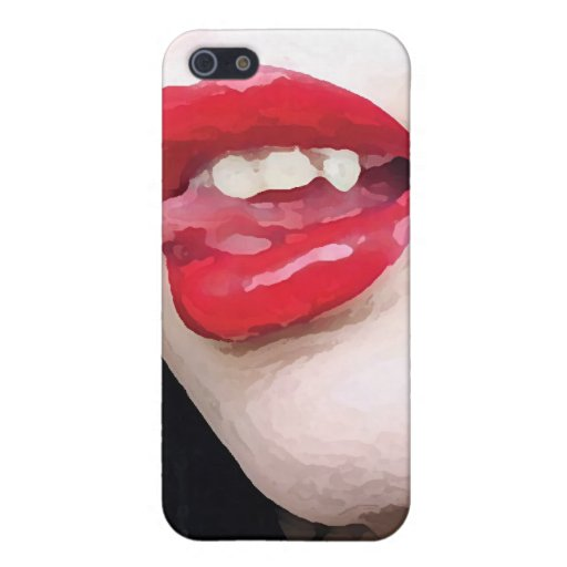 Labios del vampiro iPhone 5 carcasas