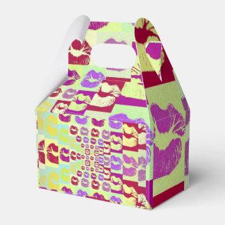 Labios descarados del estilo del vintage caja para regalos de fiestas
