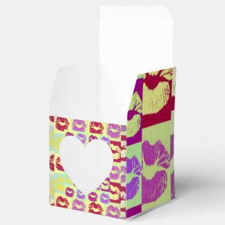 Labios descarados del estilo del vintage cajas para regalos de boda