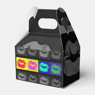 Labios fluorescentes de Black&White Caja Para Regalo De Boda