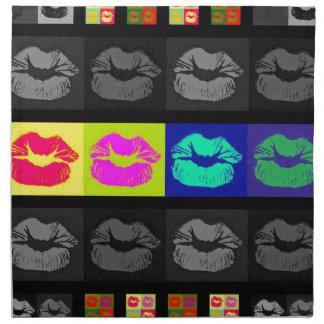 Labios fluorescentes de Black&White Servilletas De Papel