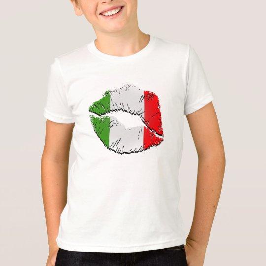 Labios italianos de la bandera playera