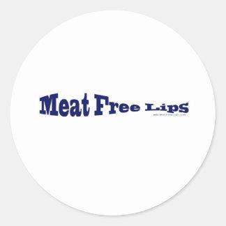 Labios libres de la carne - pescados azules formad etiquetas redondas