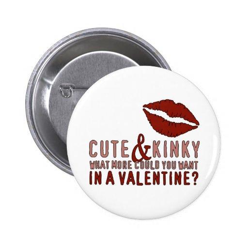 Labios lindos y rizados de la tarjeta del día de S Pin