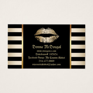 Labios modernos del oro del distribuidor del tarjetas de visita