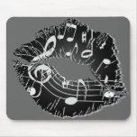 Labios Mousepad de la música Alfombrillas De Raton