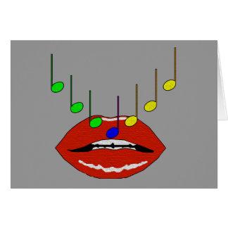 Labios musicales tarjetón