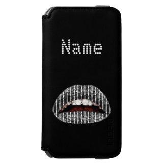 Labios negros iPhone6 Incipio Walletcase del ónix Funda Billetera Para iPhone 6 Watson