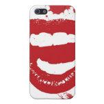 Labios pintados iPhone 5 protectores