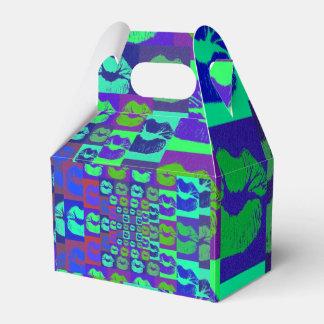 Labios psicodélicos caja para regalos de fiestas
