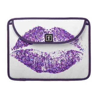 Labios púrpuras #2 del brillo funda para macbook pro