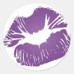 Labios púrpuras etiqueta