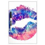 Labios que se besan de la galaxia tablero blanco