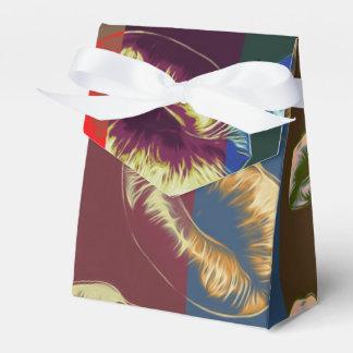 Labios rayados rojos fluorescentes cajas para regalos de boda