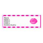 Labios rayados rosados el | tarjeta de visita