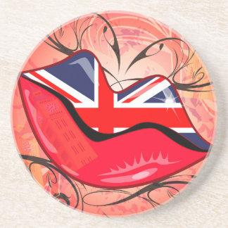 Labios, Reino Unido Posavasos Diseño