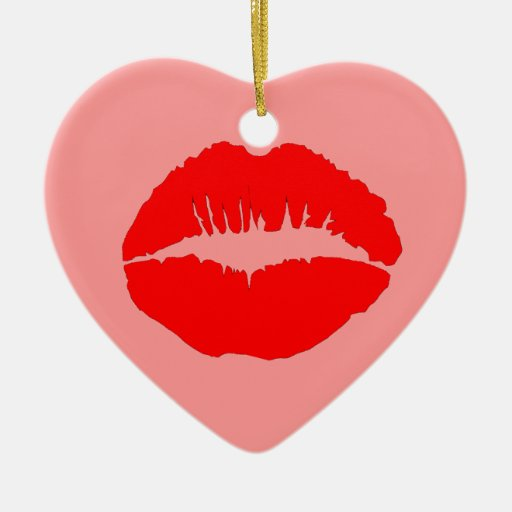 Labios rojos de Kissy Ornamento De Reyes Magos