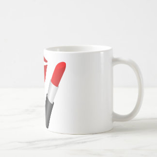 Labios rojos M.U.A. taza blanca clásica de 11