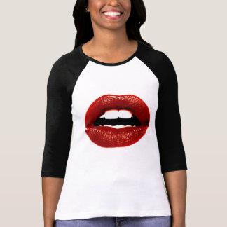 labios rojos camiseta