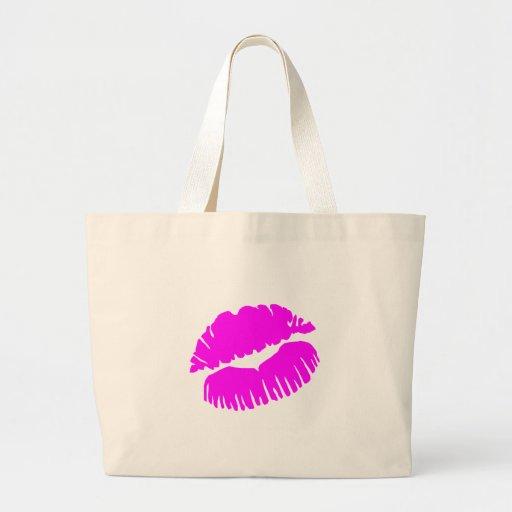 Labios rosados bolsas