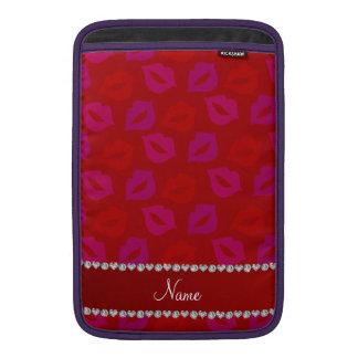 Labios rosados rojos conocidos personalizados fundas macbook air