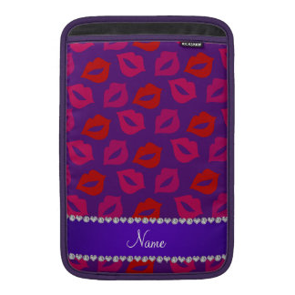 Labios rosados rojos púrpuras conocidos fundas MacBook