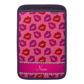 Labios rosados rosados conocidos personalizados fundas MacBook