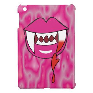Labios sangrientos del vampiro del corazón en rosa