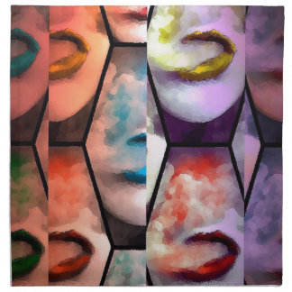 Labios Vape del arco iris Servilleta