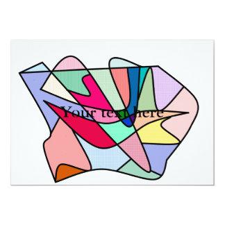 Labios y lengua frescos del vitral en multicolors comunicado