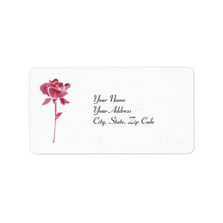Lables de la dirección del rosa del corte del rosa etiquetas de dirección