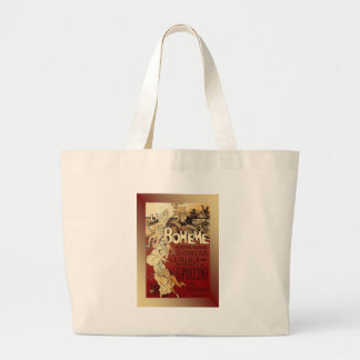LaBoheme ~ Puccini Opera 1896 w/Background Large Tote Bag
