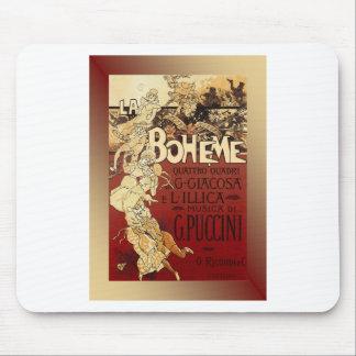 LaBoheme ~ Puccini Opera 1896 w/Background Mouse Pad
