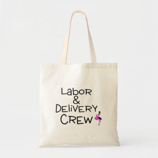 Labor and Delivery Crew Pink Canvas Bags