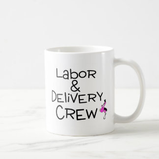 Labor and Delivery Crew Stork Classic White Coffee Mug